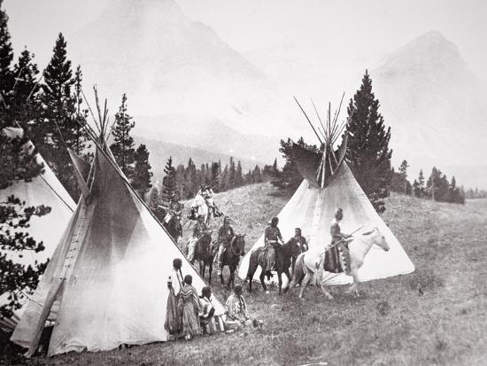 american-photographer-native-american-teepee-camp-montana-c-1900-b-w-photo