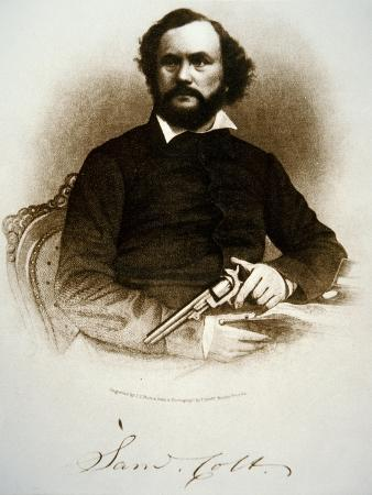american-samuel-colt-holding-one-of-his-percussion-revolvers-engraving