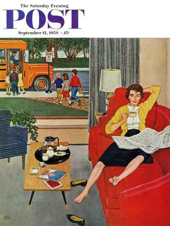 amos-sewell-morning-coffee-break-saturday-evening-post-cover-september-12-1959