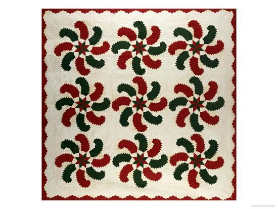 an-appliqued-cotton-quilted-coverlet-american-mid-19th-century