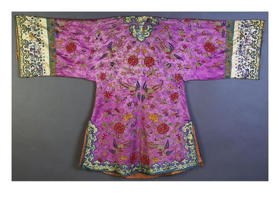 an-informal-robe-of-mauve-satin-woven-with-a-floral-damask-repeat-embroidered-with-pheasants