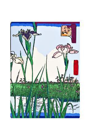 ando-hiroshige-irises-a-pond