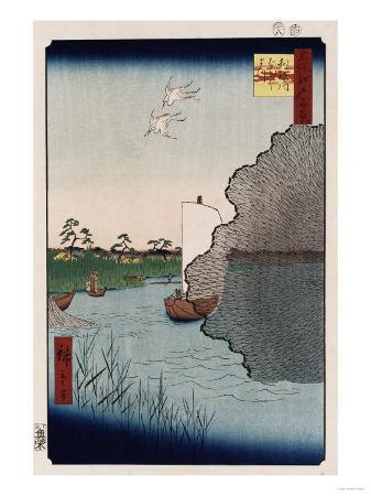 ando-hiroshige-scattered-pine-along-tone-river-from-the-series-one-hundred-views-of-famous-places-in-edo