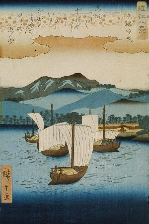 ando-or-utagawa-hiroshige-returning-sails-at-yabase-from-the-series-eight-views-of-omi-c-1855-8
