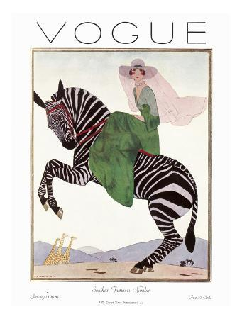 andre-e-marty-vogue-cover-january-1926-zebra-safari