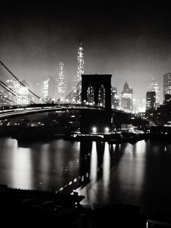 andreas-feininger-night-view-of-the-brooklyn-bridge