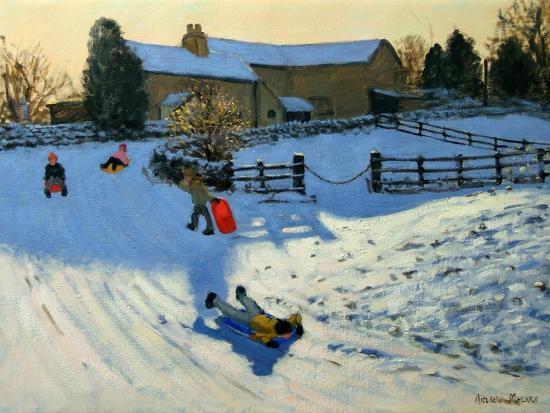 andrew-macara-children-sledging-monyash-derbyshire