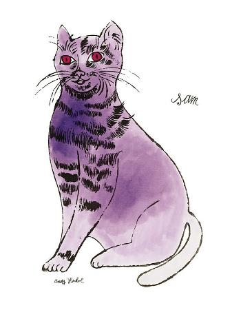 andy-warhol-25-cats-named-sam-and-one-blue-pussy-by-andy-warhol-c-1954-purple-sam