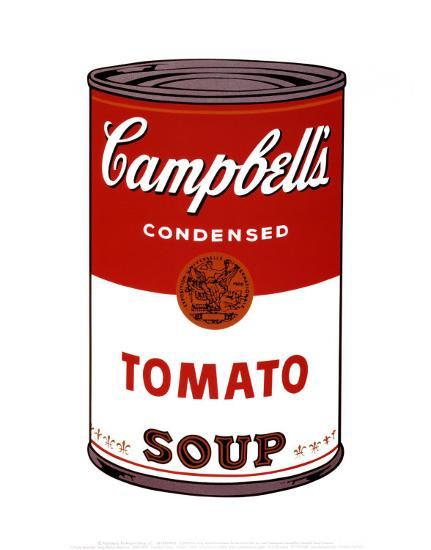 campbell 39 s soup i tomato art print by andy warhol at. Black Bedroom Furniture Sets. Home Design Ideas