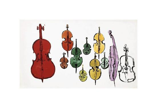 andy-warhol-eleven-string-instruments-c-1957