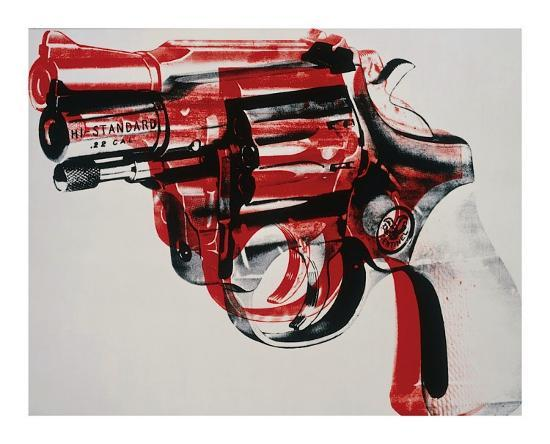 andy-warhol-gun-c-1981-82-black-and-red-on-white