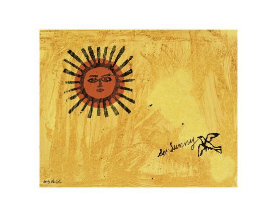 So Sunny, c. 1958 Art Print by Andy Warhol at Art.com