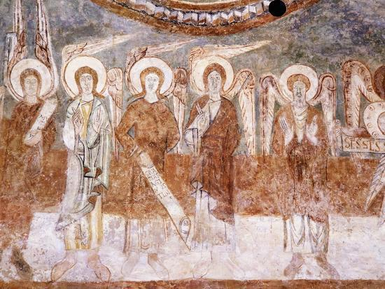 angels-of-heavenly-court-romanesque-fresco-in-abbey-church-of-saint-theodore
