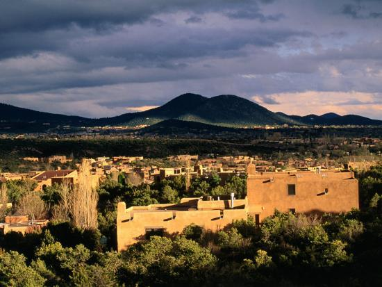ann-cecil-buildings-with-mountain-in-distance-santa-fe-u-s-a