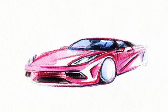 anna-ismagilova-car-art-sketch-sport-car-pencil-drawing