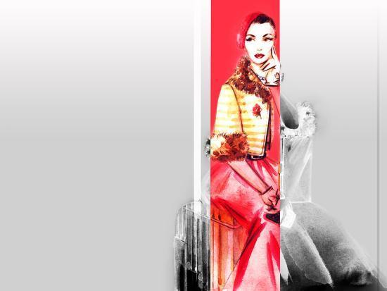 anna-ismagilova-hand-drawn-traveling-woman-with-luggage