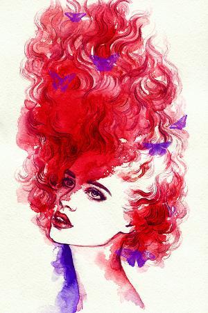anna-ismagilova-woman-portrait-abstract-watercolor-fashion-background
