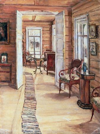 anna-nikolaeva-karinskaya-interior-of-l-panteleev-s-house-in-murmanov-1913