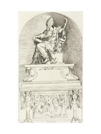 anne-claude-philippe-de-caylus-study-for-the-tomb-of-pope-clement-vii-after-baccio