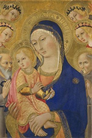 ansano-di-pietro-di-mencio-pietro-madonna-and-child-with-saint-jerome-saint-bernardino-and-angels-c-1460-70