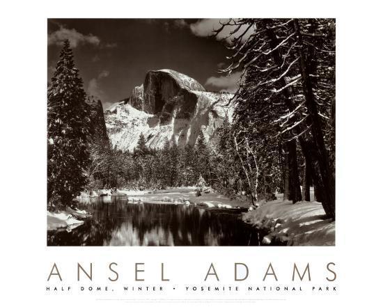 ansel-adams-half-dome-merced-river-winter