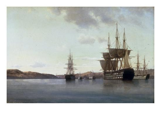 anton-melbye-the-napoleon-and-other-men-of-war-in-cherbourg-harbour-1863