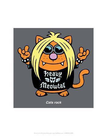 antony-smith-cats-rock-antony-smith-learn-to-speak-cat-cartoon-print