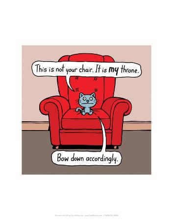 antony-smith-my-throne-antony-smith-cattitude-cartoon-print