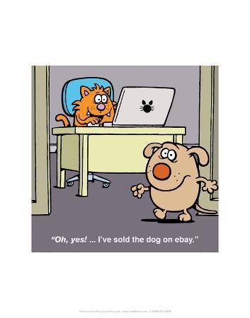 antony-smith-sold-the-dog-on-ebay-antony-smith-learn-to-speak-cat-cartoon-print