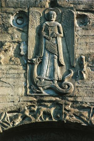 archangel-michael-bas-relief-over-entrance-to-basilica-of-san-michele-maggiore