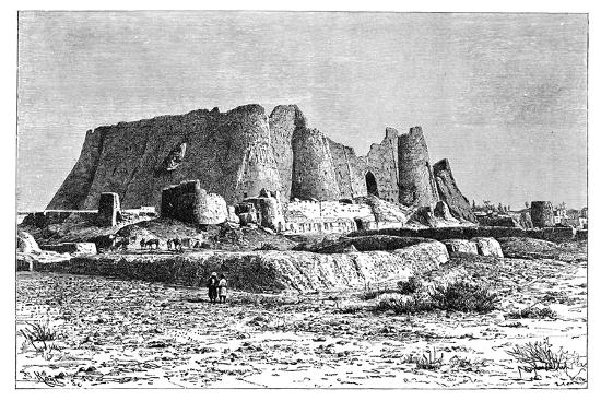 armand-kohl-the-ruined-fortress-of-veramin-persia-ira-1895