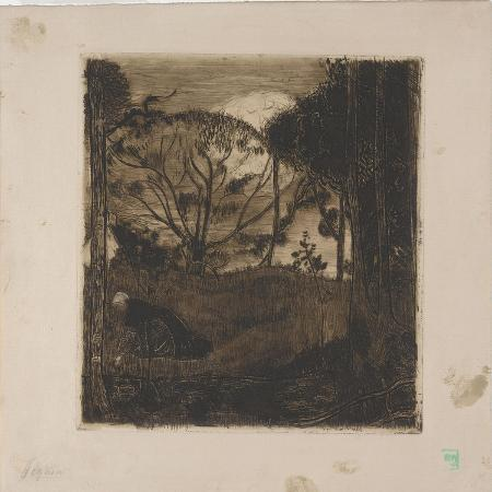 armand-seguin-le-soir-evening-or-la-glaneuse-the-gleaner-1893-etching-aquatint-lavis-and-roulette