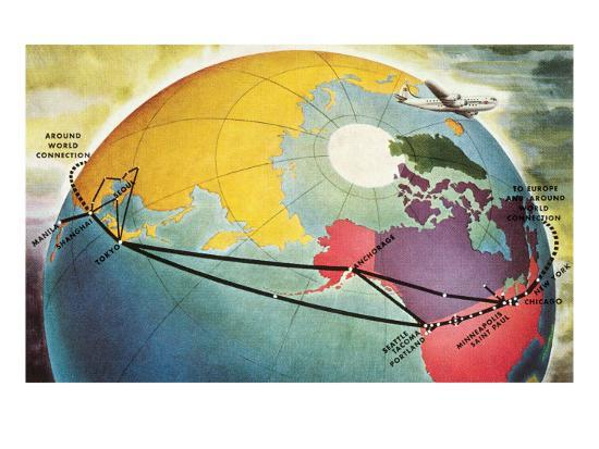 around-world-connection-plane-and-globe