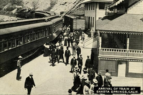 arrival-of-a-train-at-shasta-springs-california-c-1910
