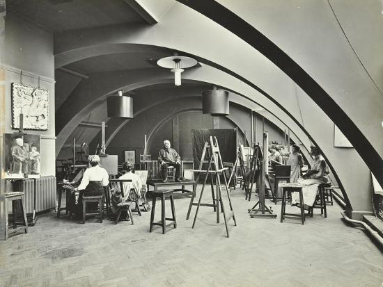 art-class-westminster-technical-institute-london-1910
