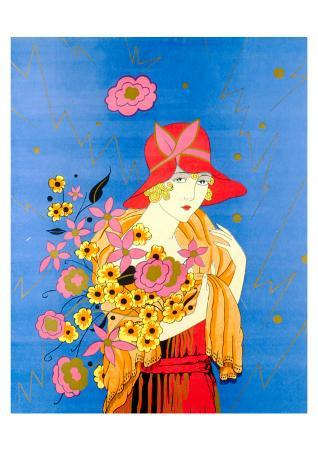 art-deco-lady-with-flowers
