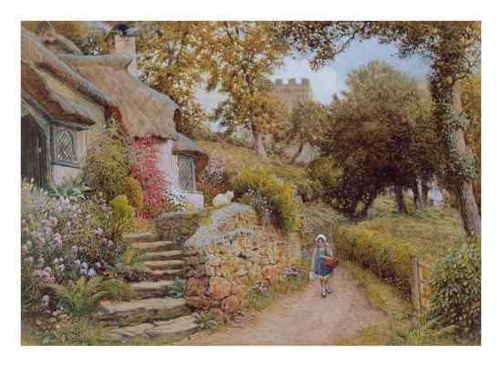 arthur-claude-strachan-a-country-lane-w-c-on-paper