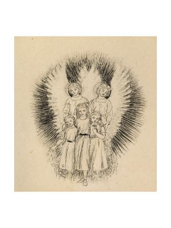 arthur-hughes-three-little-children-on-the-wide-wide-earth-pen-and-black-ink-on-off-white-paper