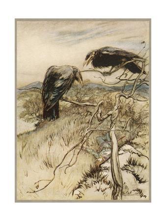 arthur-rackham-ballad-twa-corbies