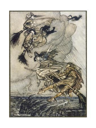 arthur-rackham-flight-of-witches