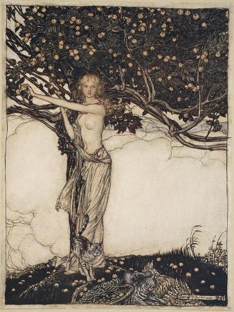arthur-rackham-freia-the-fair-one-illustration-from-the-rhinegold-and-the-valkyrie-1910