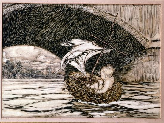 arthur-rackham-he-passed-under-the-bridge-and-came-within-full-sight-of-the-delectable-gardens-illustration-for