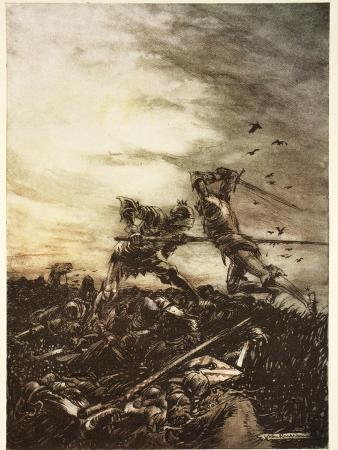arthur-rackham-how-mordred-was-slain-by-arthur-and-how-by-him-arthur-was-hurt-to-the-death