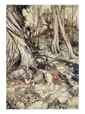 arthur-rackham-where-often-you-and-i-upon-faint-primrose-beds-were-wont-to-lie