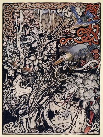 arthur-rackham-wild-and-shy-and-monstrous-creatures-ranged-in-her-plains-and-forests