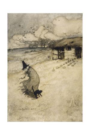 arthur-rackham-witch-and-cat