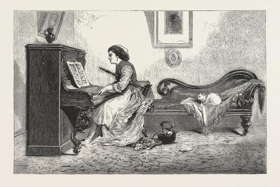 artistic-recreation-piano-playing-female-woman-interior-cat-room-1876-uk