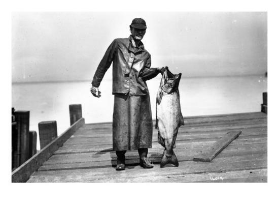 asahel-curtis-cannery-worker-with-salmon-circa-1909