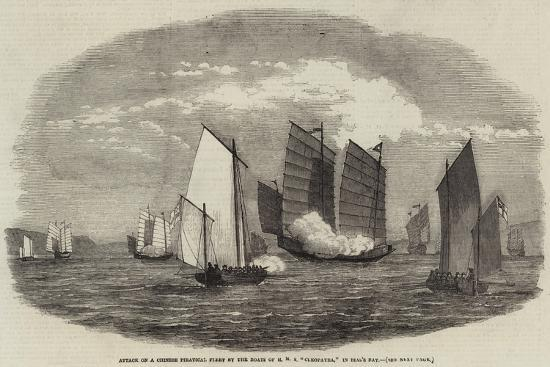 attack-on-a-chinese-piratical-fleet-by-the-boats-of-hms-cleopatra-in-bias-s-bay