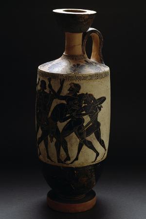 attic-black-figure-ceramic-vase-depicting-battle-scene